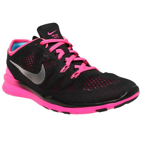 nike womans boots nike free tr 5 s shoes black pink
