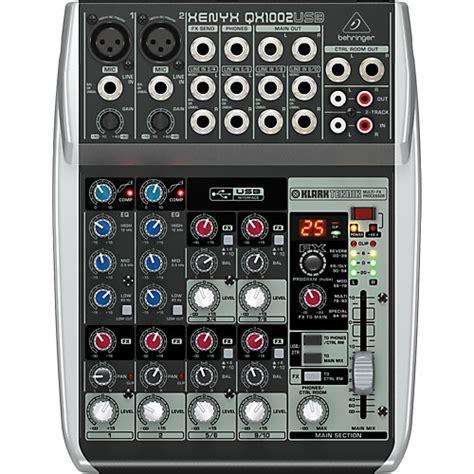 Mixer Behringer Xenyx Qx1002usb behringer xenyx qx1002usb mixer musician s friend