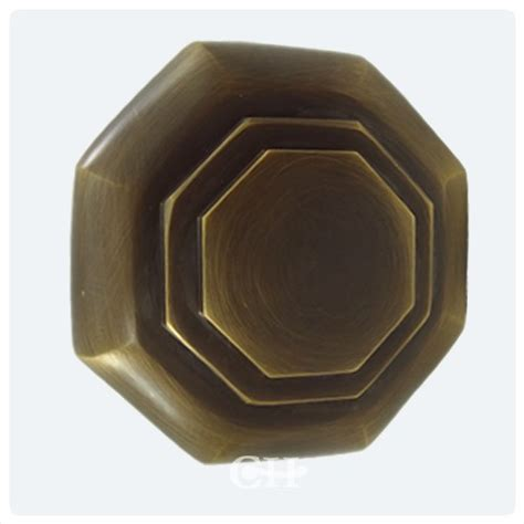 4180r flat octagonal door knobs in brass bronze
