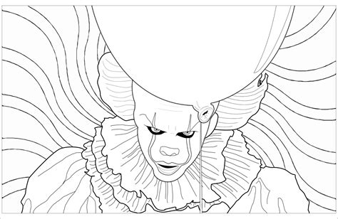 coloring pages of wallpaper pennywise the clown coloring pages awildidea movie