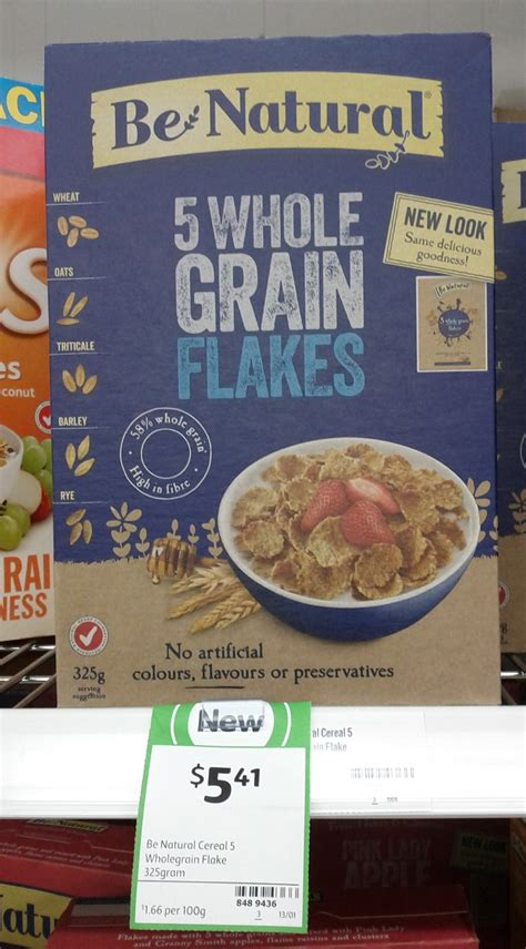 5 whole grain flakes new on the shelf at coles 7th november 2014 new