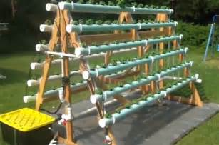 How To Build A Vertical Hydroponic Garden A Frame Vertical Hydroponic Garden Grows 168 Plants