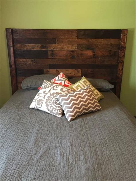 pallet queen size bed headboard pallet furniture diy
