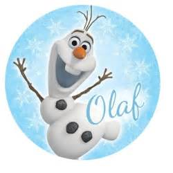 Frozen olaf round edible icing cake image