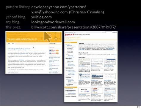 pattern library yahoo designing with ajax yahoo pattern library