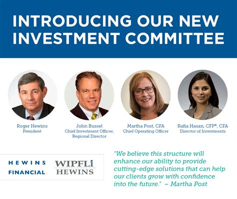 Introducing Nollie Our New For by Introducing Our New Investment Committee Hewins Financial
