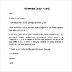 Recommendation Letter Format In Sle Reference Letter Format 7 Free Documents In Pdf Word