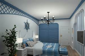 the mediterranean style bedroom interior design rendering