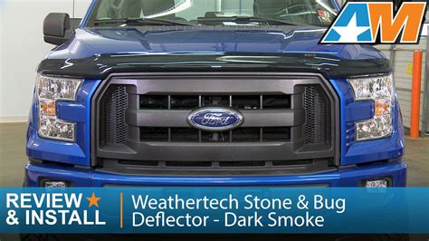 bug three opok 2017 2015 2016 f 150 weathertech stone bug deflector dark