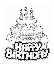 happy birthday coloring pages printable happy birthday coloring pages coloring me