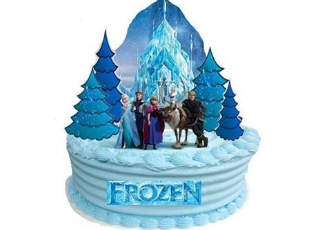 edible disney frozen castle wafer standup birthday
