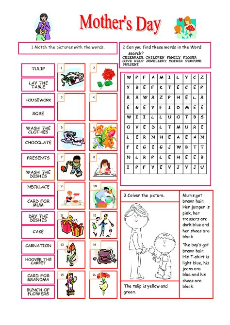 free printable word searches nutritionally speaking 46 free mother s day worksheets and lesson plans
