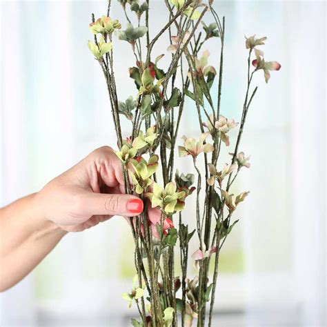 artificial stems and sprays pink and green woodland artificial dogwood sprays picks and stems floral supplies craft