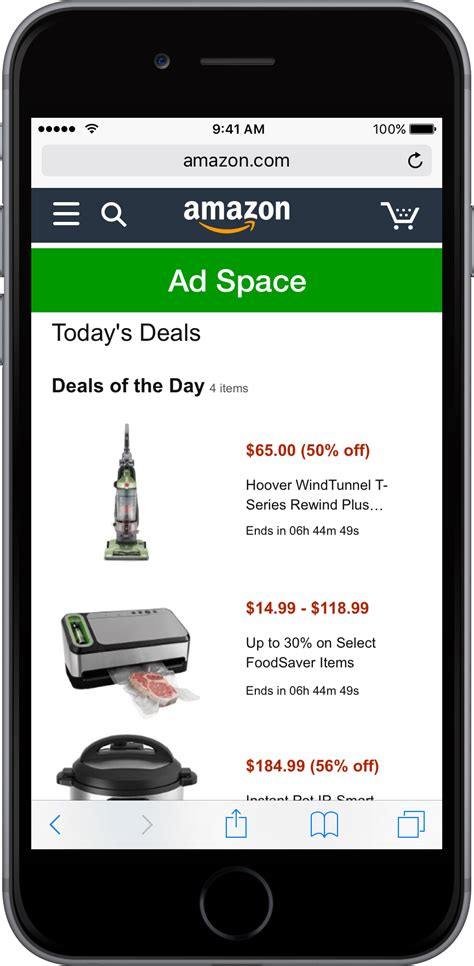 page on mobile mobile shopping advertising