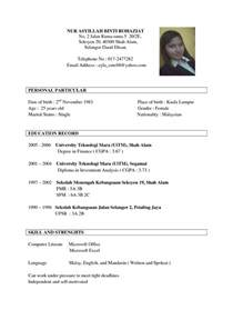 Sample Resume For Jobs format of resume for job application to download data
