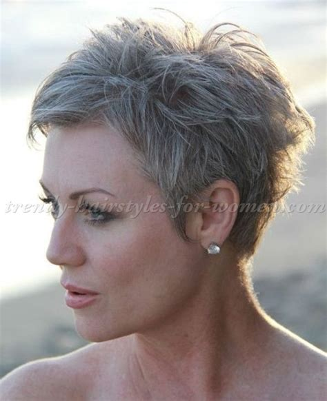 short grey haircuts on pinterest short grey hair older short pixie haircuts for women over 50 wow com image