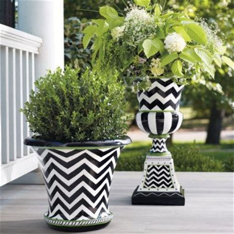 black and white planters zoey urn planters just and the plant
