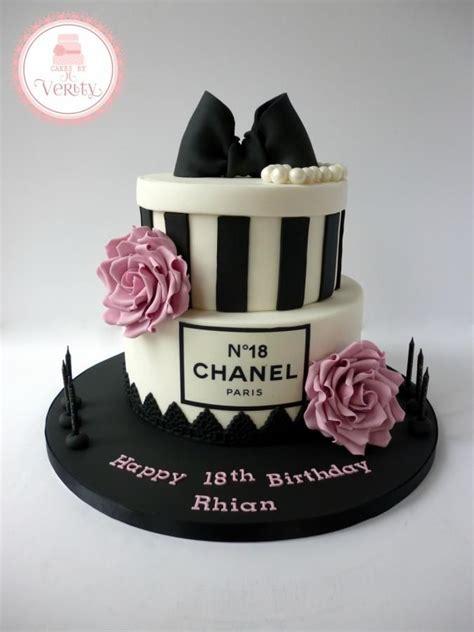 Chanel inspired 18th birthday cake happy birthday