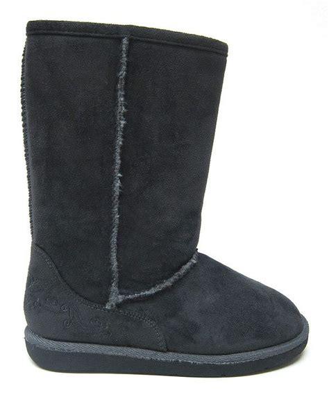 hugs boots gray hug boot