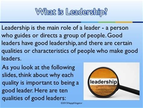 powerpoint templates for leadership qualities leadership ten qualities of a good leader powerpoint