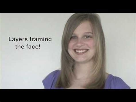 how to cut face framing layers creaclip how to cut face framing layers and side bangs