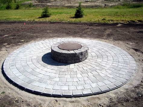 basic circle patio and firepit k landscapes