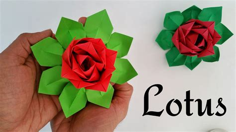Lotus With Paper - modular origami tutorial to make quot lotus quot indian