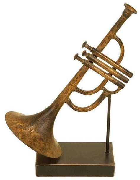 instrument with metal 11 quot jazz trumpet metal instrument sculpture figurine