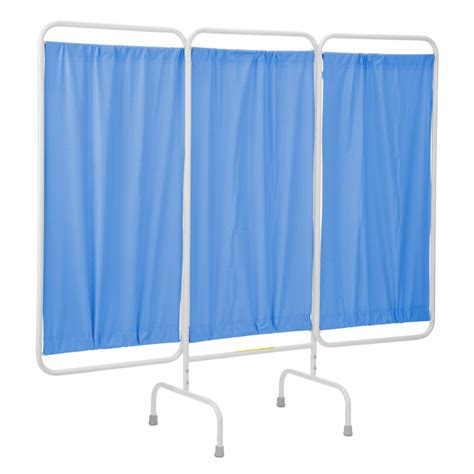 medical privacy curtains r b wire stationary three panel patient privacy screen