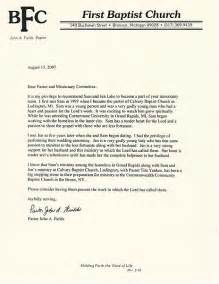 sample recommendation letter from church pastor cover