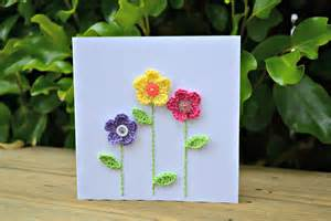 flowers for card crochet flower card the green dragonfly