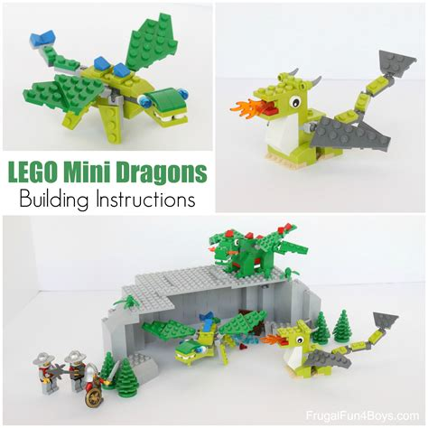 lego dragon tutorial lego mini dragons building instructions frugal fun for