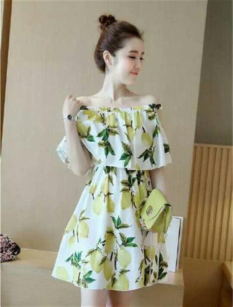Sabrina Motif baju dress pendek model sabrina motif cantik modis terbaru