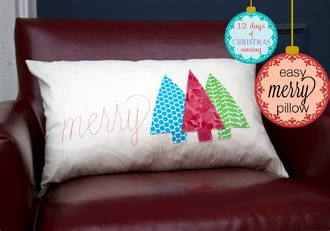 Everyday Celebrations Simple Patchwork Pillows Free Pattern - easy merry pillow from the to