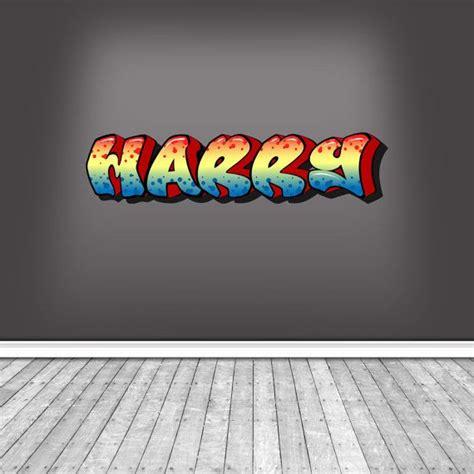 graffiti name on bedroom wall full colour personalised graffiti name wall art stickers