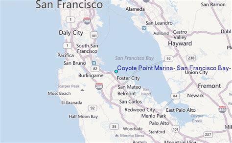 san francisco map location coyote point marina san francisco bay california tide