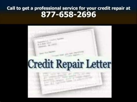 Free Credit Repair Letters Free Sle Credit Repair Dispute Letters Mp4