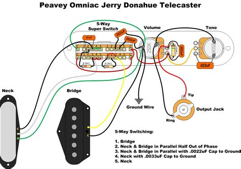 five way switch wiring diagram telecaster international