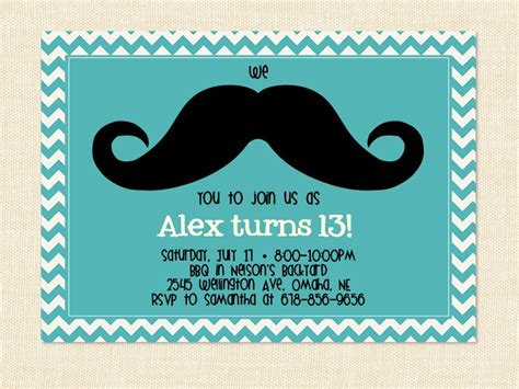 birthday card template 11 year boy 13 years birthday invitations free invitation