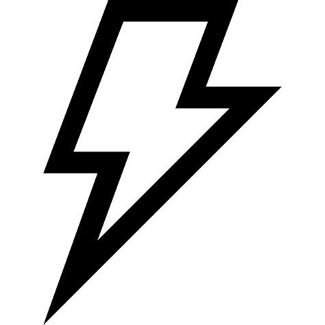 Flash Lightning Bolt Outline by Lightning Bolt Outlined Weather Symbol Free Weather Icons