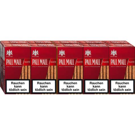 mall reds pall mall red xl filter cigarillos tabakvertrieb24 de