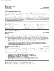 Chef Resume Template Free by Chef Resume Template Free Free Sles Exles Format Resume Curruculum Vitae Free