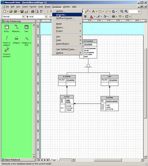 database diagram visio database diagram export to visio images how to guide and