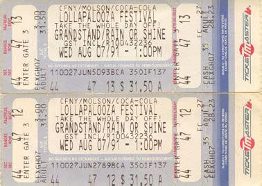 Toronto Detox Hotline by Nine Inch Nails 1991 Lollapalooza Tour Ticket Stubs
