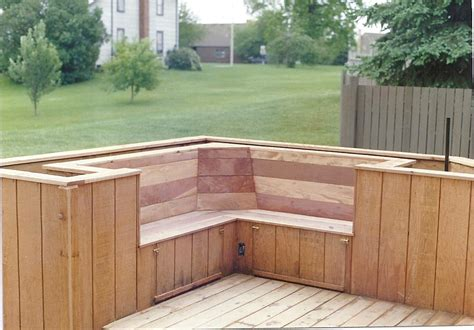 corner deck bench guide deck bench planter diy simple woodworking