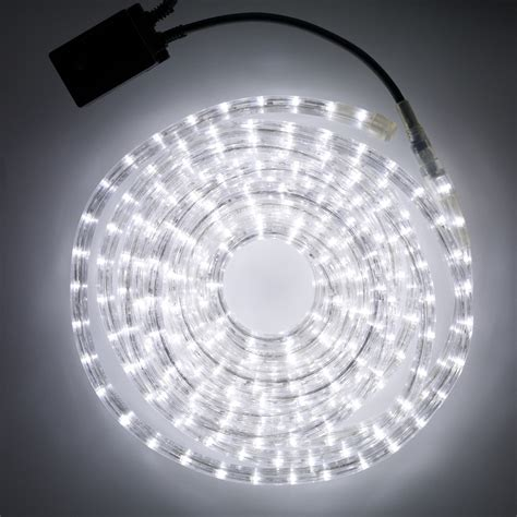 8m white led rope light indoor outdoor use lights4fun - Led Lights Outdoor Use