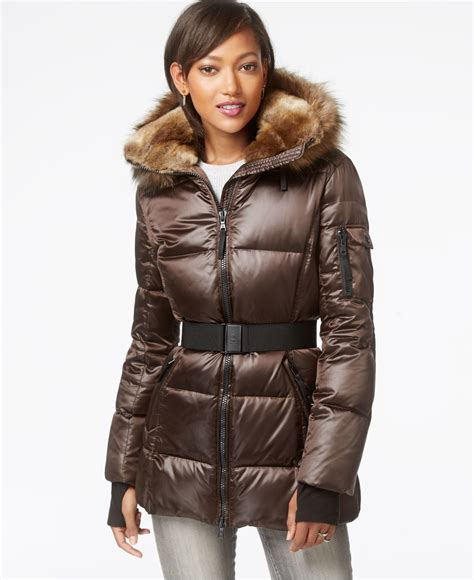 Calvin Klein Hooded Faux Fur Trim Quilted Puffer Coat by Puffer Jacket Fur Best Jacket 2017
