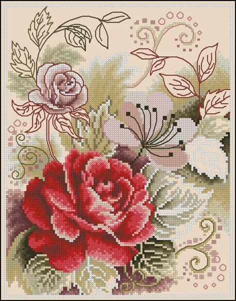 Rose Pattern Name | best 25 cross stitch rose pattern ideas on pinterest