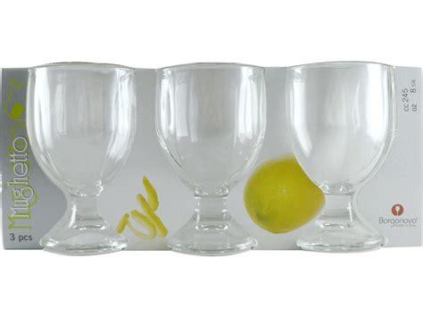 bicchieri per acqua bicchieri borgonovo mughetto acqua x 3