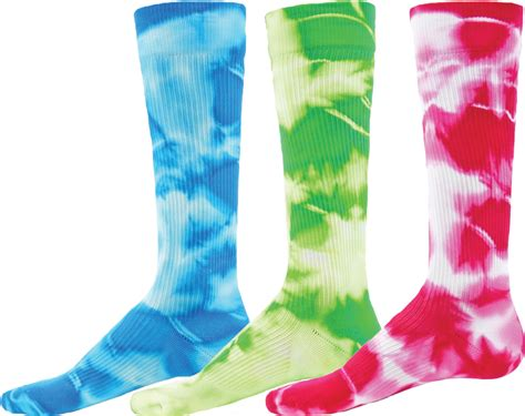 colorful compression socks colorful neon tie dyed knee high athletic sport